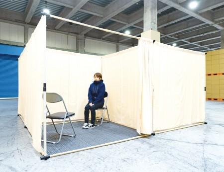 避難所対策用 紙管パーテーション MYP-01