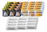 防災アプリQRコード付き 備蓄食料セット 家族4人3日分食料セットA(ロングキープブレッド)