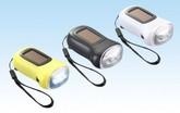 ソーラー&ダイナモLEDライト ブラック 10個/箱