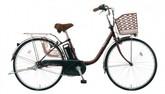 パナソニック電動ノーパンク自転車 ビビTX チョコブラウン