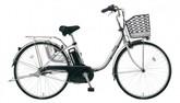 パナソニック電動ノーパンク自転車 ビビTX モダンシルバー